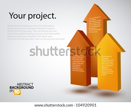 Vector illustration of 3d arrows - stock vector