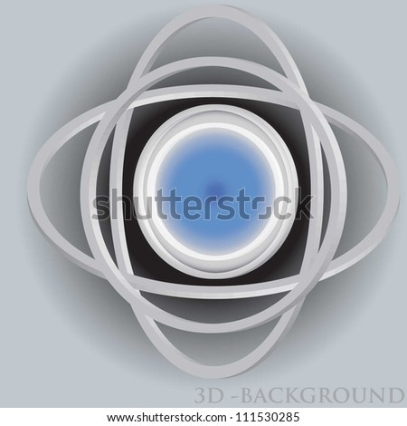 vector illustration of 3d background - stock vector