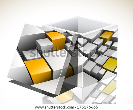 Vector illustration of 3d box.