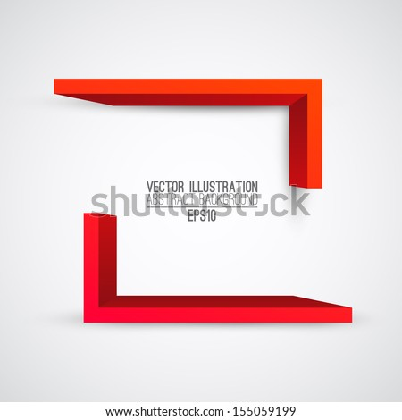 Vector illustration of 3d shapes. Presentation logo - stock vector