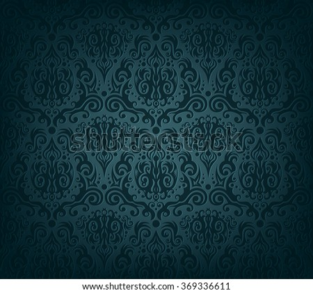 Vector illustration of dark blue wallpaper - stock vector