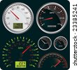Vector Illustration of Dashboard Dial - stock photo