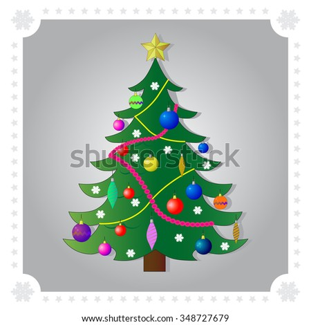 Decorated christmas tree stock vectors amp vector clip art