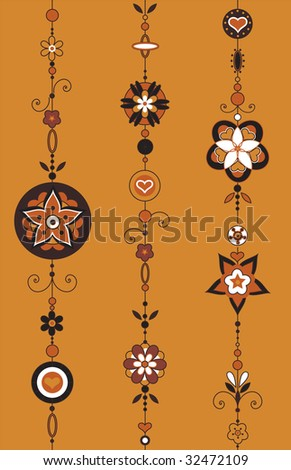 Vector Illustration of Decorative Wind Chimes with authentic ornament design - stock vector