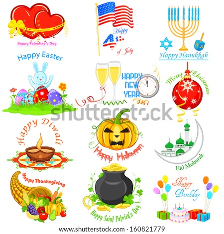 vector illustration of design element for Holidays - stock vector