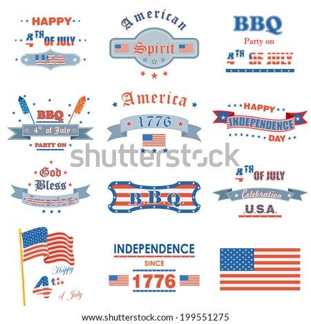 vector illustration of design for Fourth of July American Independence Day - stock vector