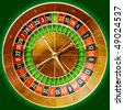 Vector illustration of detailed casino roulette wheel - stock photo