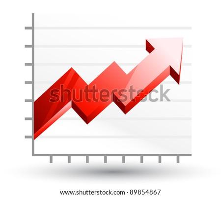 Vector illustration of diagram on white background - stock vector