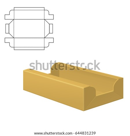 Vector Illustration of Diecut Craft Box for Design Website Background Banner. Retail  sc 1 st  Shutterstock & Box Die Cut Stock Images Royalty-Free Images u0026 Vectors | Shutterstock Aboutintivar.Com