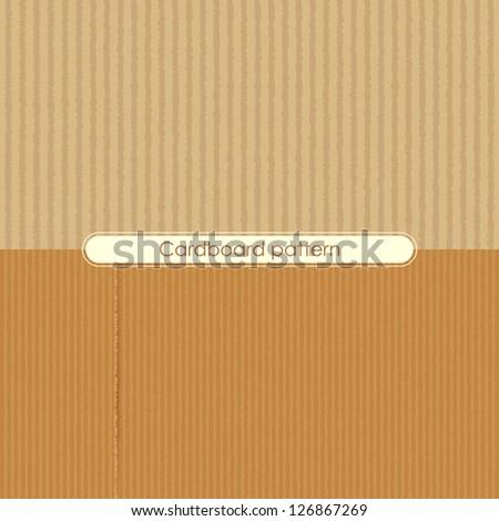 vector illustration of different cardboard texture - stock vector