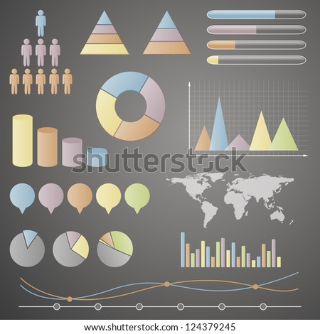 Vector Illustration of Different Info graphic Elements