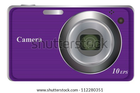 vector illustration of  digital camera - stock vector