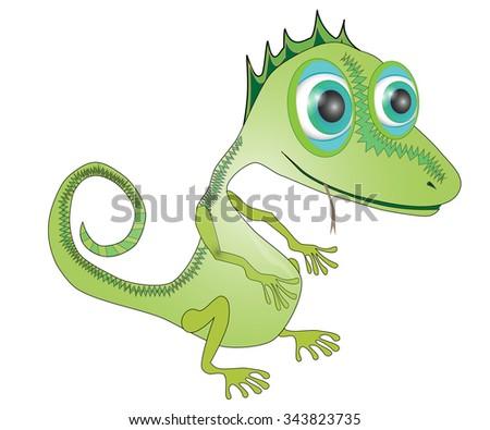Vector illustration of Dinosaurs cartoon. Reptile - stock vector