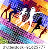 vector illustration of  disco - stock vector