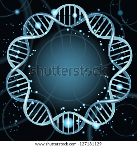 Vector illustration of dna strands. File is saved in AI10 EPS version. This illustration contains a transparency - stock vector