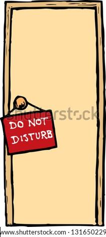 Vector illustration of Do not disturb! sign - stock vector