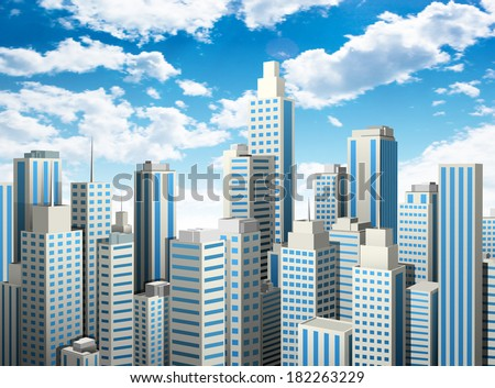 Vector illustration of downtown district.