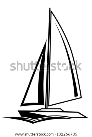 Vector illustration of easy sailing ship