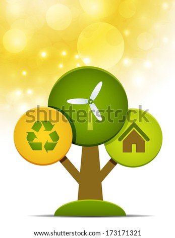 Vector illustration of Eco concept.