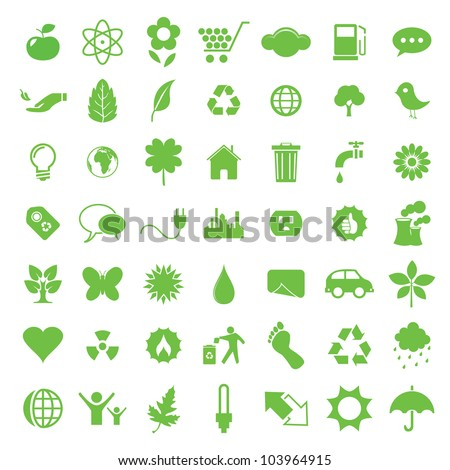 Vector illustration of eco icons.