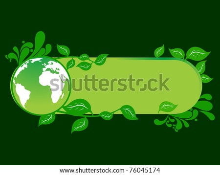 vector illustration of ecology concept banner - stock vector