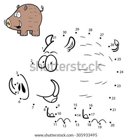 Vector Illustration of Education Numbers game Boar - stock vector