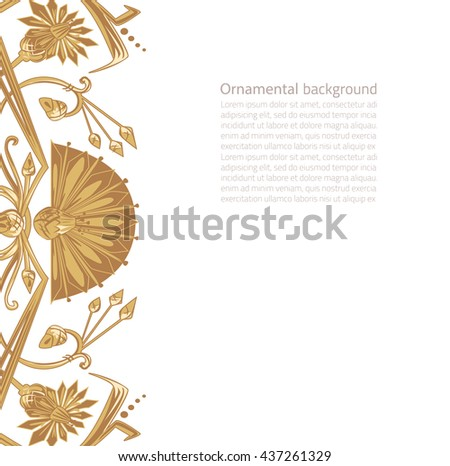 Vector illustration of egypt ornament background with copy space