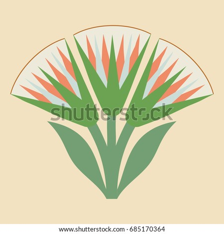 Vector illustration egyptian national drawing lotus stock vector vector illustration of egyptian national drawing with lotus flower on beige background mightylinksfo