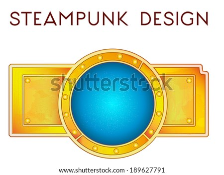 vector illustration of element in steampunk style - stock vector