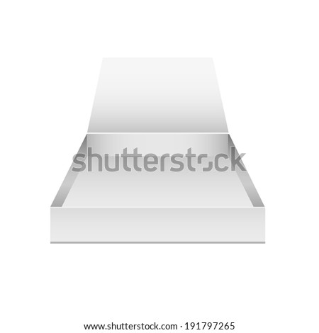 vector illustration of empty boxes on the plane on a white background