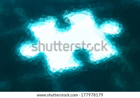Vector illustration of enlighted puzzle consisted of triangles