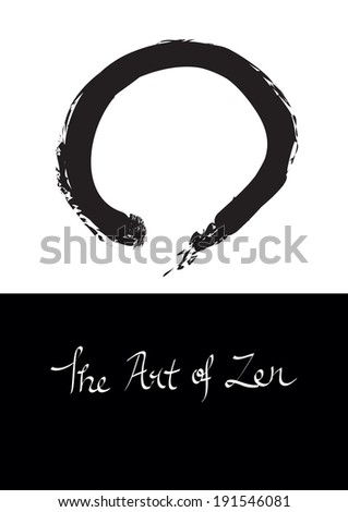Vector illustration of Enso, circle symbol for Zen. - stock vector