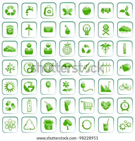 vector illustration of  environment icon against isolated background - stock vector