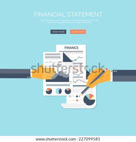 Vector illustration of financial concept background. Business solutions and money saving. Company strategy and management.Administrative planning. - stock vector