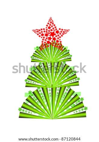 vector illustration of fir tree - stock vector