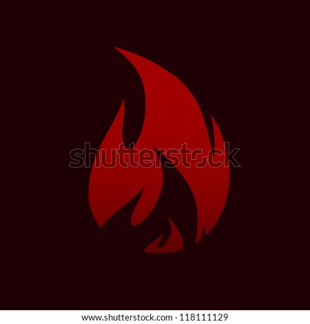 Vector Illustration of Fire - stock vector