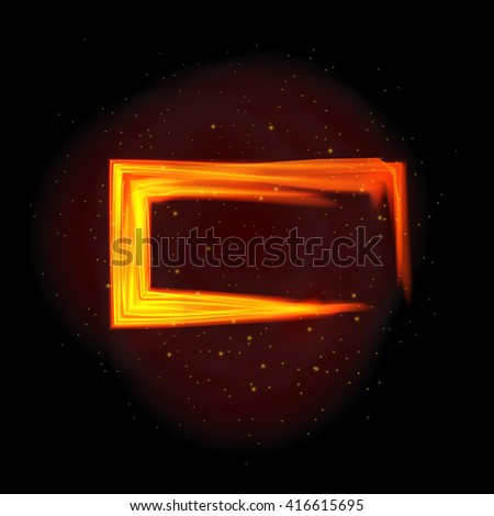 vector illustration of fire flame background - stock vector