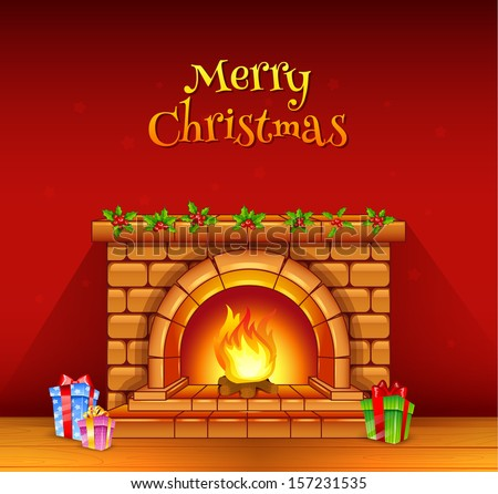 Cartoon Fireplace Stock Images, Royalty-Free Images ...