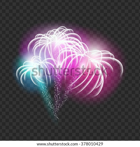 Vector illustration of firework that can be placed over any background - stock vector