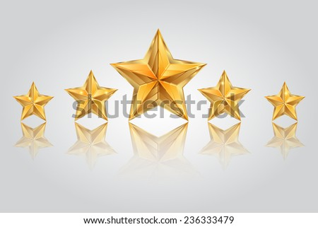 Vector illustration of Five stars - stock vector