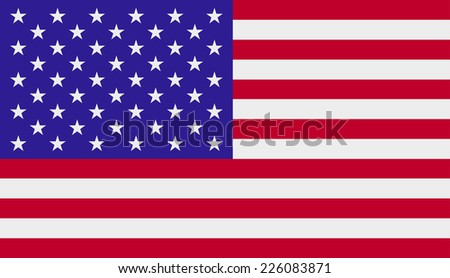 Vector illustration of Flag of United States - stock vector