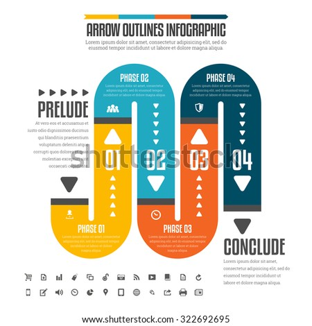 Vector illustration of flat pipe infographic design elements. - stock vector