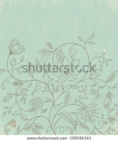 Vector illustration of floral background - stock vector