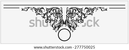 Vector Illustration of floral design element with copy space for your text - stock vector