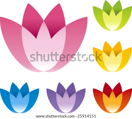 Vector illustration of flower icon.