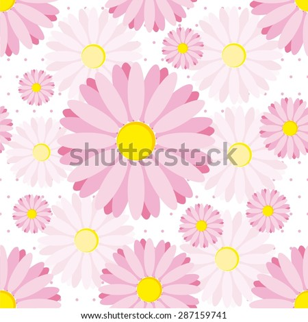 Vector illustration of  flowers seamless pattern background - stock vector