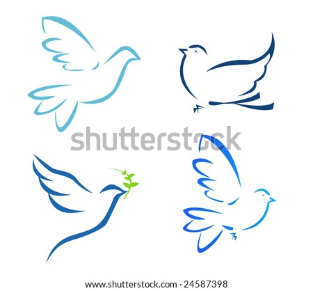 Vector illustration of flying dove