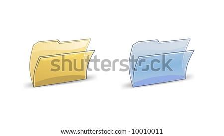 vector illustration of folder icon - stock vector