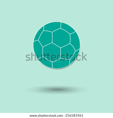 Vector illustration of  Foot ball color background. - stock vector