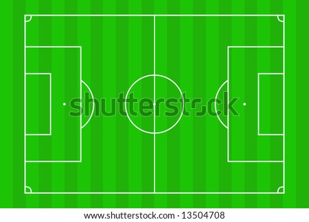 Vector illustration of football pitch.